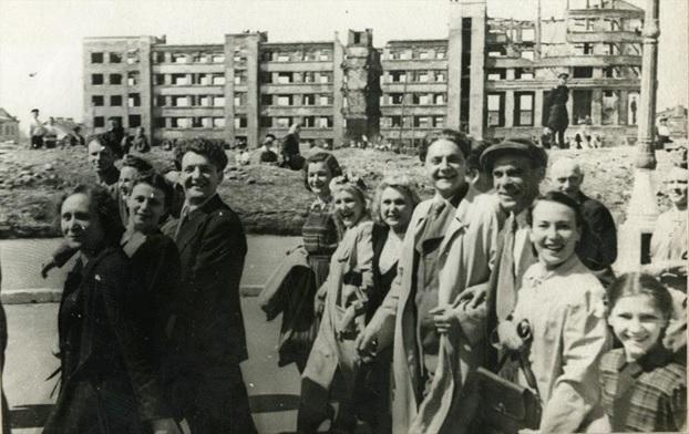 Демонстрация 1 мая 1943 года.