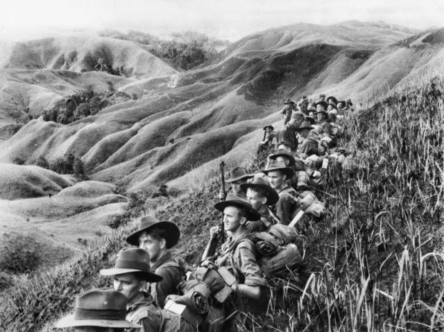 Привал австралийских солдат в Новой Гвинее. Март 1944 г.