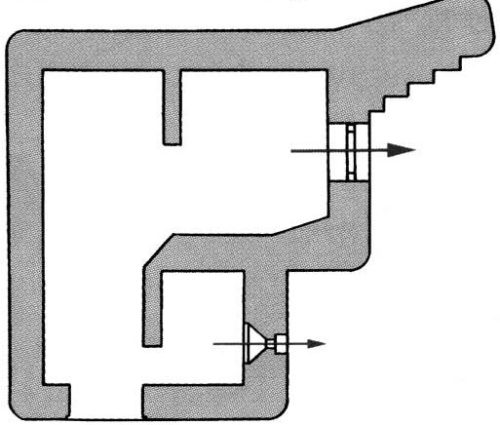 План каземата BEF для легкой артиллерии.