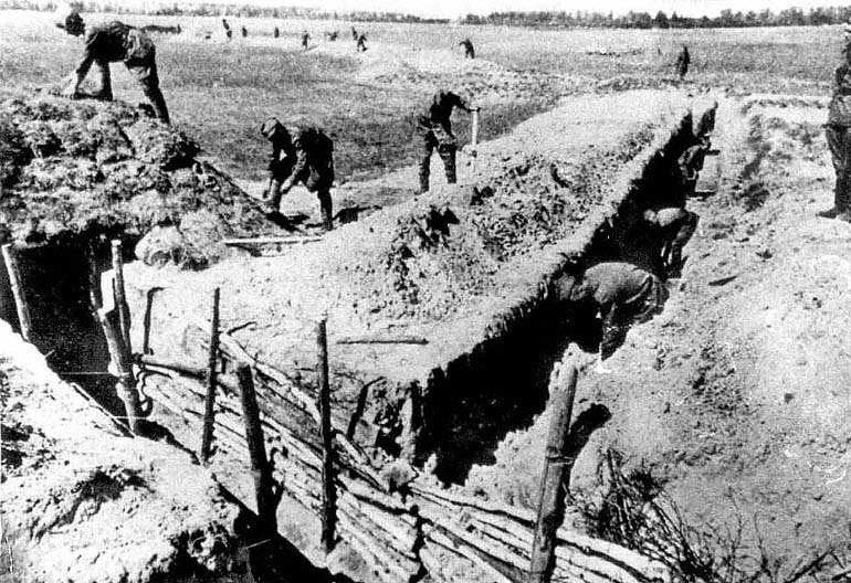 Возведение оборонительных укреплений на подступах к Таллину.