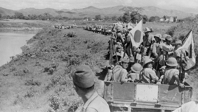 Солдаты японской императорской армии во Французском Индокитае.