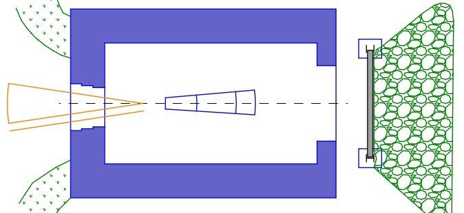 План каземата для орудия 75 мм Mle 1897.
