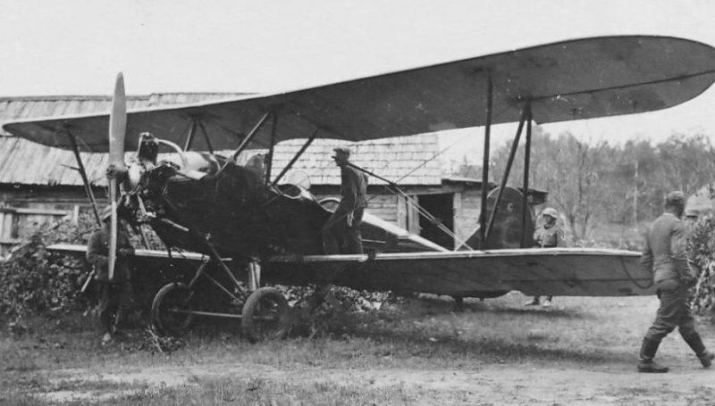 Захваченный советский самолет в Ельне. Июль 1941 г.