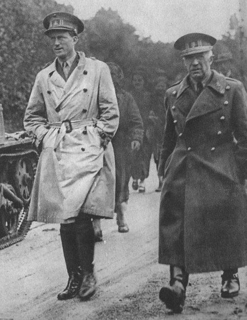 Король Леопольд III на фронте. 1940 г.