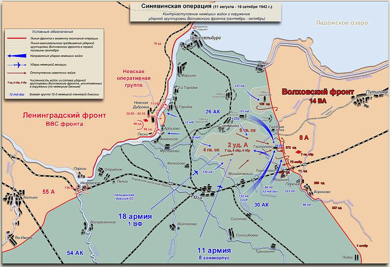 Карта-схема Контрнаступление немецких войск.