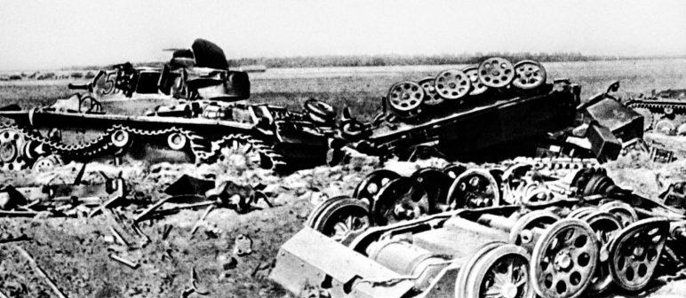 Разбитая немецкая бронетехника. Июль 1941 г.