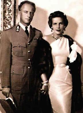 Король Леопольд III и Мэри Лилиан Баелс (вторая жена). 1941 г.