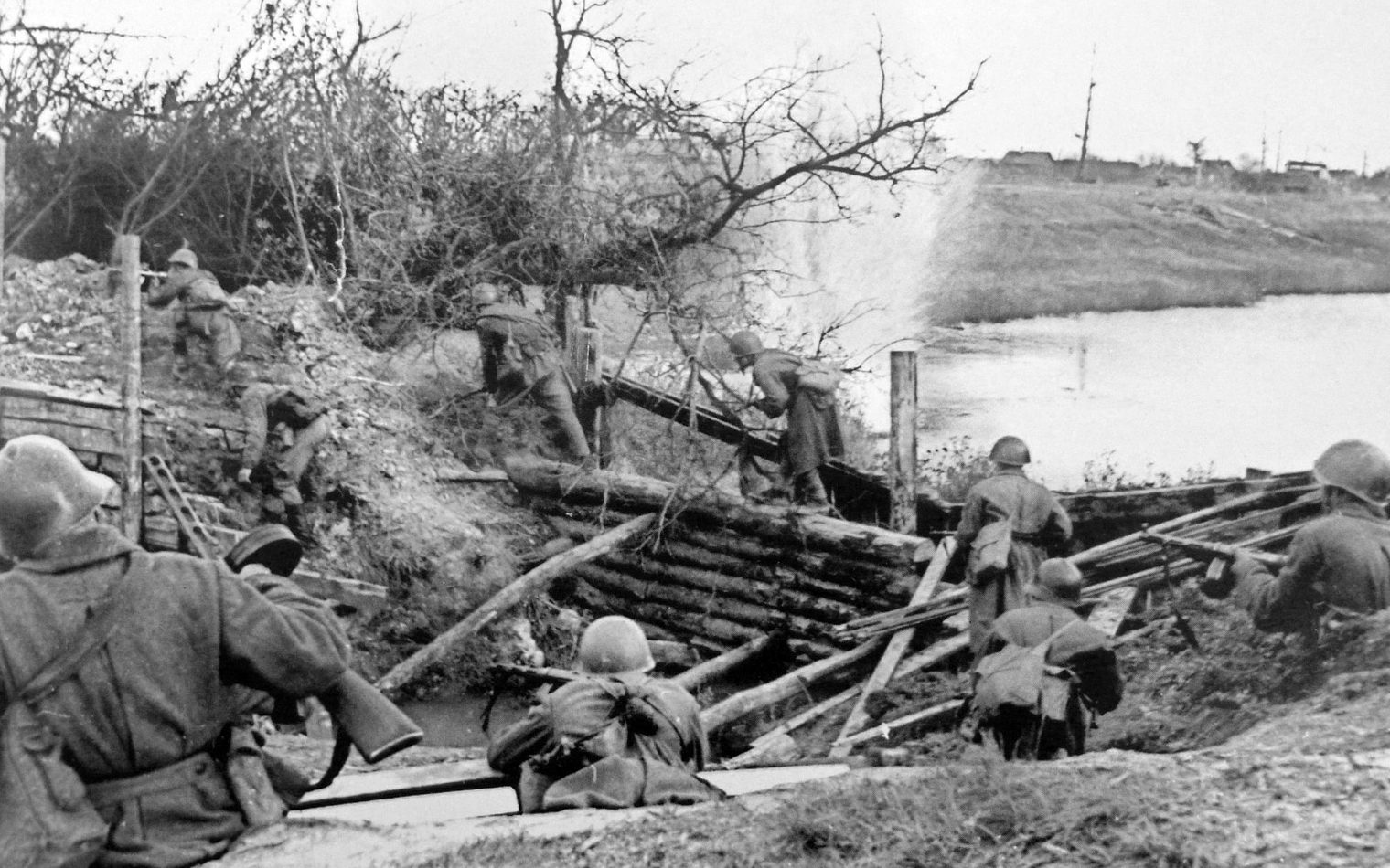 Бои на Ленинградском фронте.