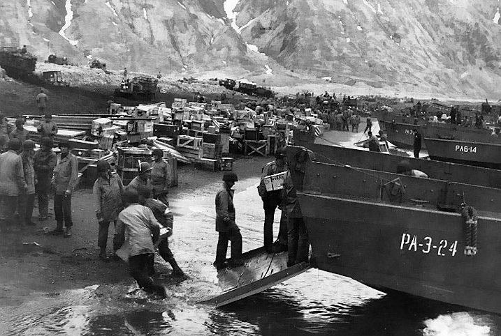 Высадка десанта на остров Атту.