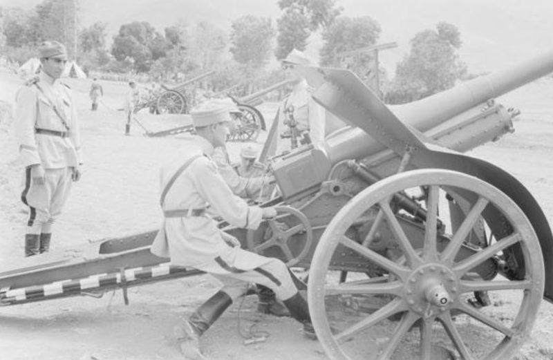 Иранская артиллерия. Август 1941 г.