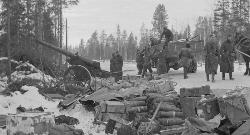 Финские войска захватили советский обоз.