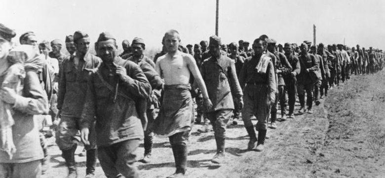 Советские военнопленные в районе Балты.