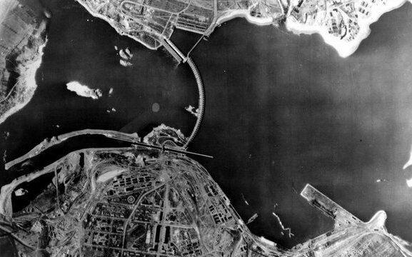 ДнепроГЭС до взрыва. Июль 1941 г.