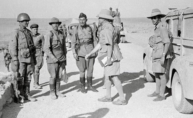 Встреча советской и английской армии у Казвина.