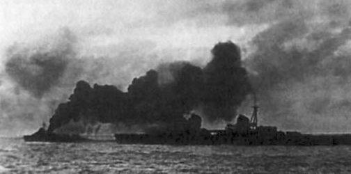 Таллинский переход под прикрытием дымовой завесы. Август 1941 г.