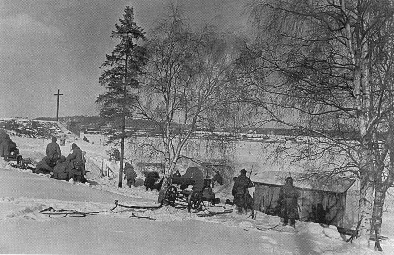 Передовые позиции Красной Армии под Выборгом. Март 1940 г.