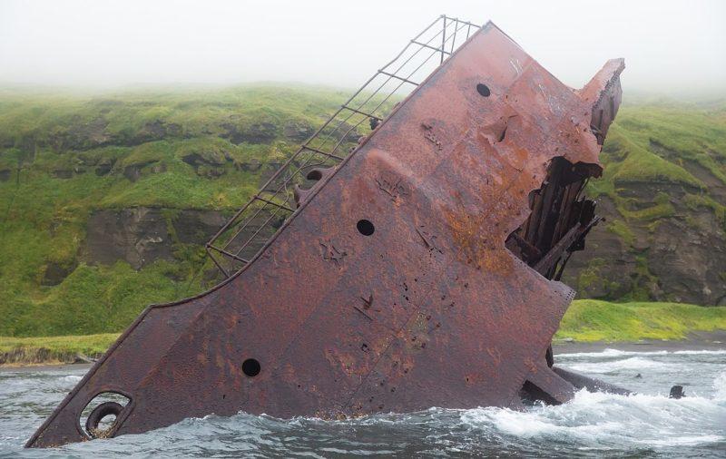 Остатки затонувшего танкера сегодня.