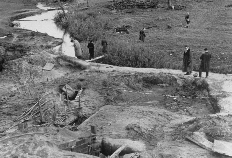 Немецкие окопы под Ельней. Сентябрь 1941 г.