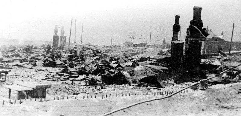 Калуга после освобождения. Район улицы Салтыкова-Щедрина. Январь 1942 г.