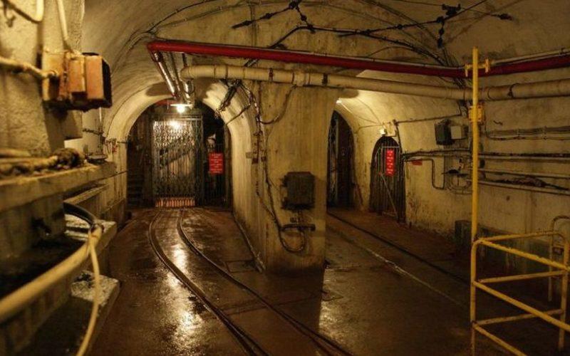 Подземелье входного блока для поставки боеприпасов.