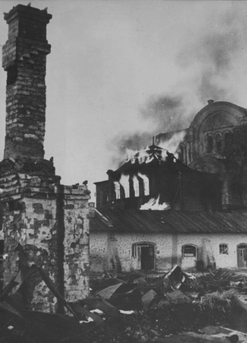 Горящий Брянск. Октябрь 1941 г.