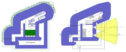 План двух этажей каземата CORF Mle 1929.