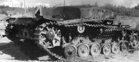 Штурмовое орудие StuG III, подбитое под Ельней. Сентябрь 1941 г.