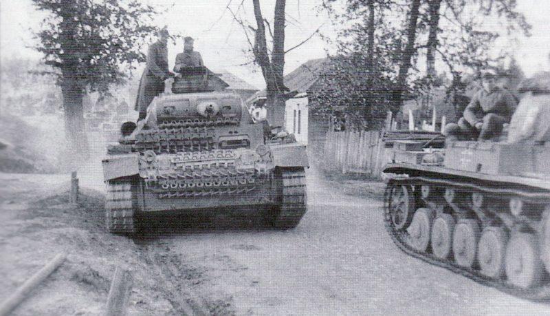Немецкая бронетехника в районе Вязьмы. Октябрь 1941 г.