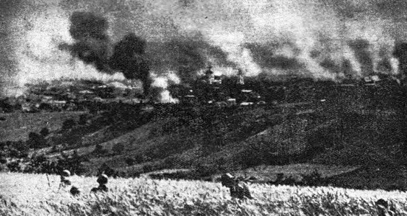 Румыны на окраине города. 16 июля 1941 г.