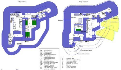 План двух этажей каземата CORF Mle 1936.