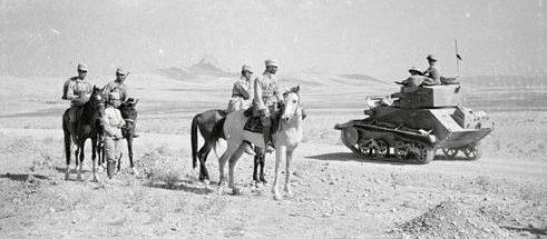 Части советской и английской армии встретились у Кавзина во время оккупации Ирана. Август 1941 г.