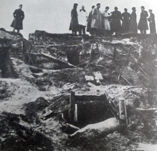 Разрушенные немецкие позиции под Ельней. Сентябрь 1941 г.