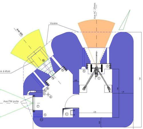 План каземата SFAM AC-Mit с левосторонними амбразурами.