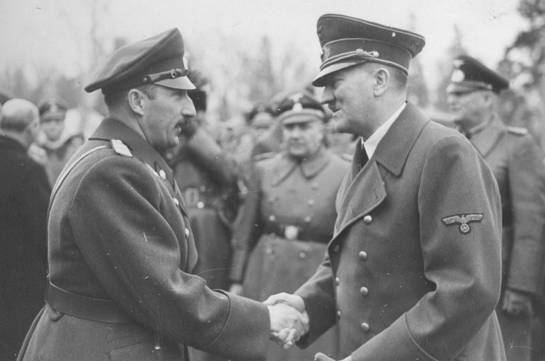 А. Гитлер и царь Борис III. 19 апреля 1941 г.