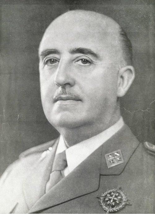 Каудильо Франсиско Франко.
