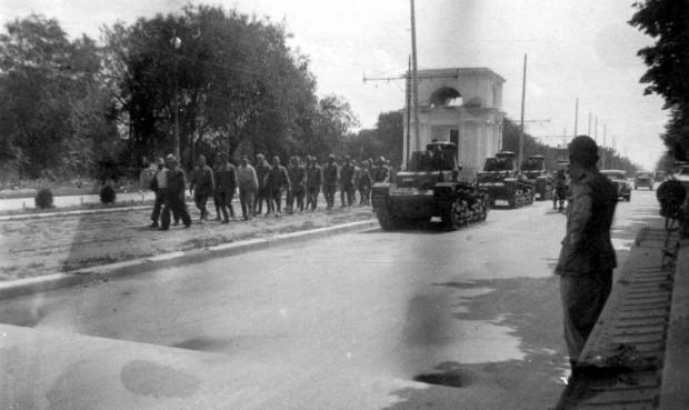 Советские военнопленные. Июль 1941 г.