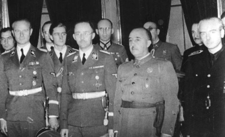 Франко принимает немецкую делегацию во главе с Генрихом Гиммлером.