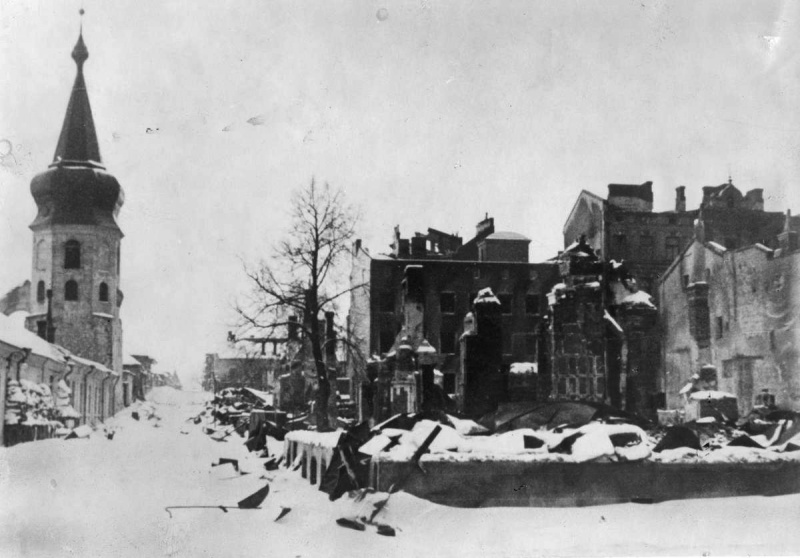 Разрушения в городе. Март 1940 г.