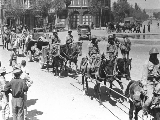 Советские войска в Иране. Август 1941 г.