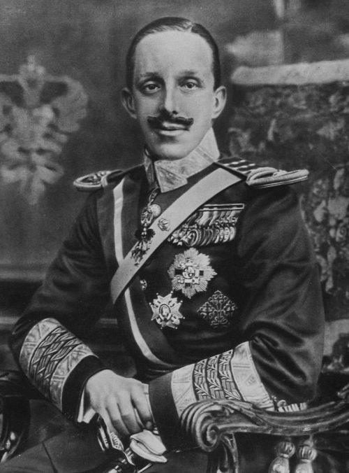 Король Испании Альфонсо XIII.
