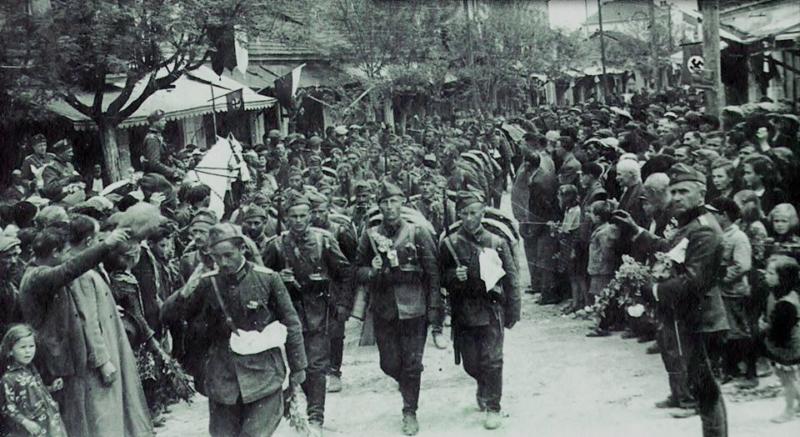Болгарские войска входят в Струмице. Апрель 1941 г.