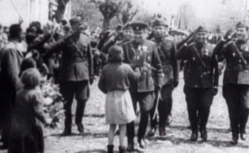 Болгарские войска входят в Битоле. Апрель 1941 г.