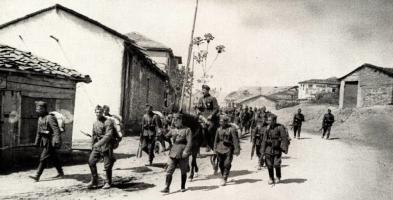 Болгарские солдаты в Греции. Апрель 1941 г.