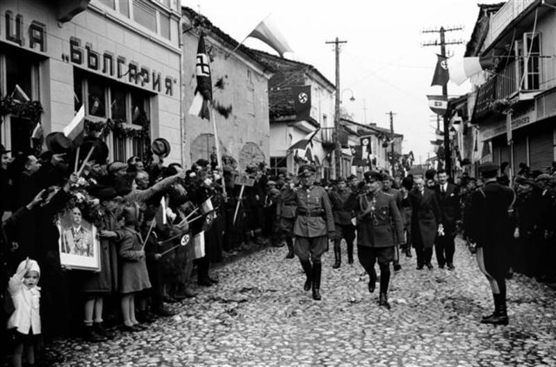 Передача греческого Охрида итальянцами болгарам. Май 1941 г.