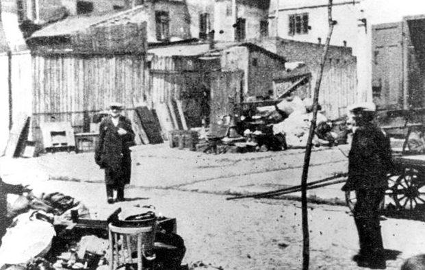 Улица гетто. Октябрь 1941 г.
