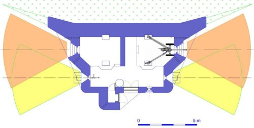 План каземата STG-FCR 39 Mod A.