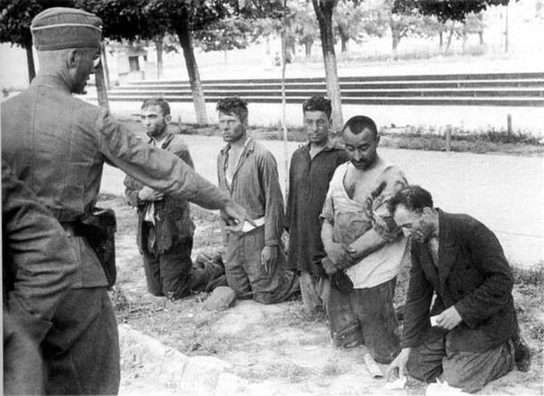 Расстрел военнопленных. Август 1941 г.