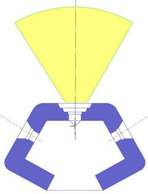 План блокпоста RM типа A с фронтальной амбразурой.
