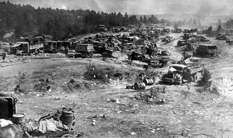 Поле боя под Вязьмой. Октябрь 1941 г.