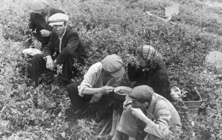 Обед в Кишиневском гетто. Август 1941 г.